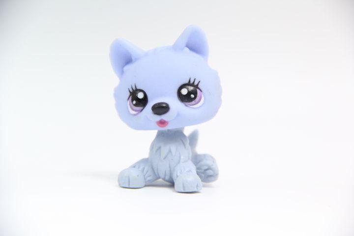 2'' Pink White Sparkle Glitter Short Hair Cat Littlest Pet Shop LPS