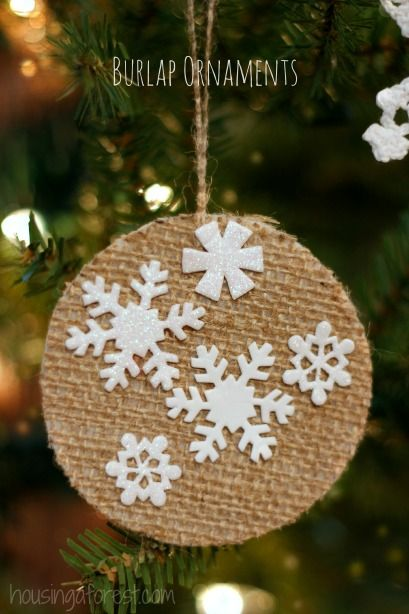 shop brands online for less Easy DIY Preschool Christmas Ornament   Love the burlap texture