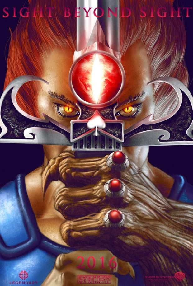 """Johnny Morrow's second digitally-painted """"ThunderCats"""" poster featuring Lion-O will give you sight beyond sight. ^_^"""