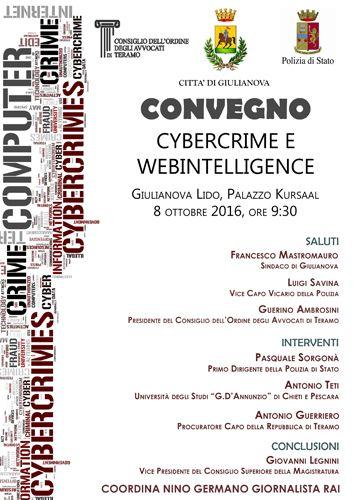 Sabato 8 ottobre Cybercrime e web intelligence a Giulianova