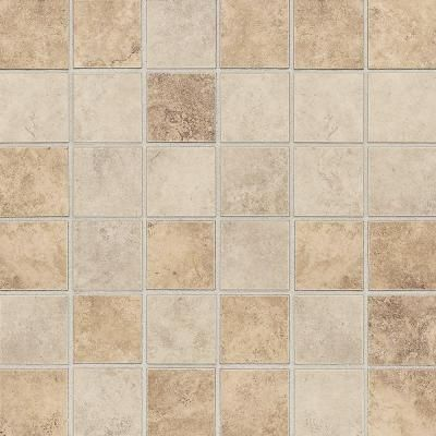 Daltile rio mesa desert sand 12 in x 12 in x 8 mm ceramic mosaic floor and wall tile 10 sq for Bathroom floor tile home depot