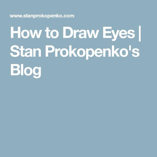 How to Draw Eyes | Stan Prokopenko's Blog