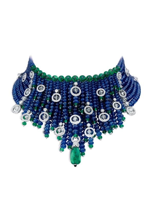 Vintage Cartier Indian-inspired bib of sapphires, emeralds and diamonds. ~~~~ this ones surely magnificent.!!!