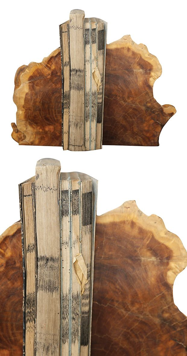 Plant your books in style. These rustic bookends are made with Madre de Cacao wood and add an earthy element to your shelving. Each set varies, so they're perfectly unique—just like your reading collec...  Find the Cacao Bookends -- Set of 2, as seen in the Bookends Collection at http://dotandbo.com/category/decor-and-pillows/bookends?utm_source=pinterest&utm_medium=organic&db_sku=118966