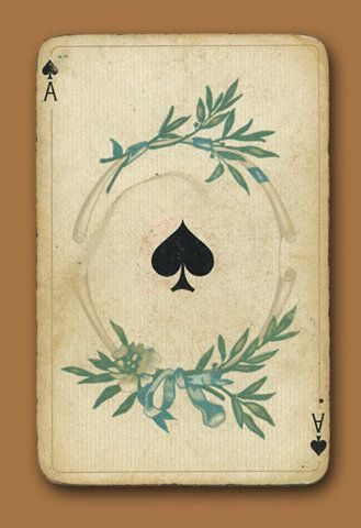 ..: Ace Of Spades, Cards Design, Blue Sky, Art Cards, Travel Tips, Tattoo Patterns, Playing Cards, Vintage Cards, Plays Cards