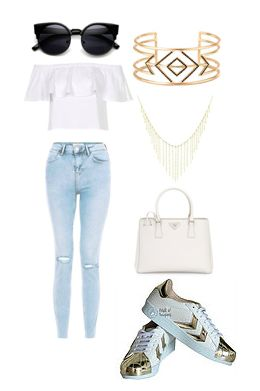 Tenis Dorados Moda Must have Outfit Fashion
