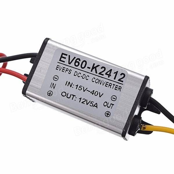 DC 24V to 12V 5A 60W Buck Converter Step-Down Car Power Supply Voltage Regulator