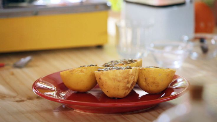 Mousse de Maracujá Bela Gil - A chef avisa que é bem diferente do tradicional, mas é muito delicioso também