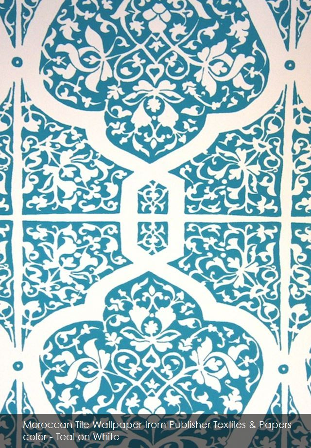 moroccan tile wallpaper from publisher textiles papers