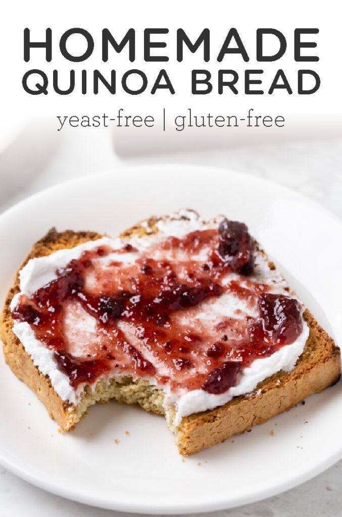 Gluten Free Yeast Free Bread Recipe Simply Quinoa Recipe In 2020 Yeast Free Breads Dessert Recipes Easy Gluten Free Yeast Free