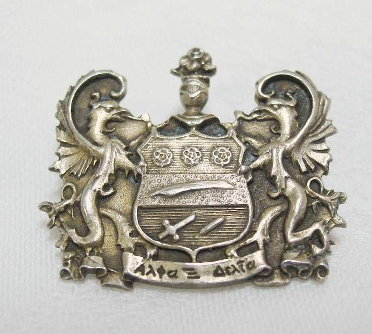 Antique Vintage STERLING Silver ALPHA XI DELTA Sorority ...