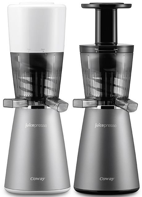 The new Juicepresso CJP 03 from Coway is a slow juicer. The Juicepresso CJP 03 features Coway Smart Extraction System, that does not grind but squeezes ingredients for higher extraction rate and juice that does not become separated.