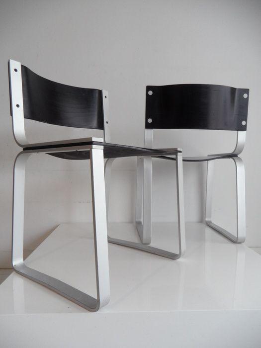 Pierre Mazairac voor Pastoe - 2 stoelen, 1972