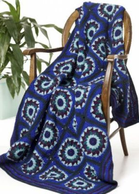 Free Blue Lagoon Throw Crochet Pattern - Free Blue Lagoon Throw Crochet Pattern - This lovely afghan with unique circular motifs and bold blues and greens is sure to accent your home decor.