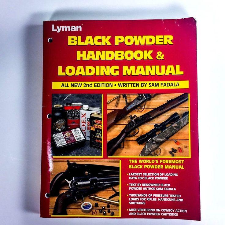 Lyman Black Powder Handbook and Loading Manual Book