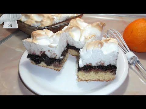 Prajitura fara grasimi cu dulceata si bezea,foarte simpla - YouTube