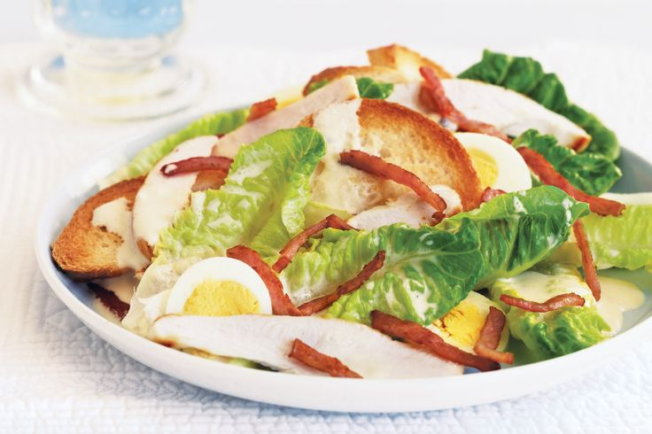 What would a Caesar salad be without crispy bacon pieces and creamy dressing? Try our delicious low-fat version - bet you can't tell the difference!