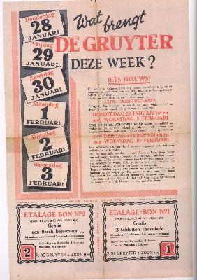 De Gruyter was een Nederlandse winkelketen. Als klantenbinder gaf de Gruyter elke week een klein cadeautje weg voor kinderen - het Snoepje van de week. Een langdurige actie hierbij was de wekelijkse actie van kartonnen bouwplaten van huizen en gebouwen.  #LostBrands