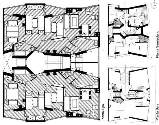 Edificio de viviendas del Instituto Social de la Marina, J. A. Coderch