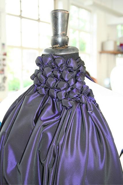 purple top - fashion using fabric manipulation techniques