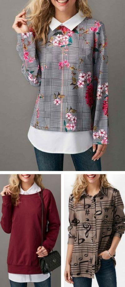 cute t shirt, long sleeve t shirt, rosewe t shirt, modest t shirt, t shirt for women, winter t shirt, falll tshirt, cotton t shirt
