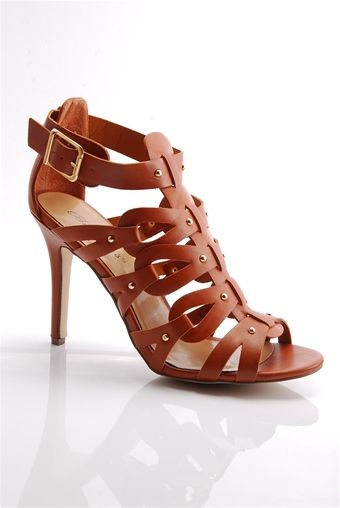 Rock Ready Open Toe High Heel Gladiator Sandals - Tan from Breckelles at  Lucky 21