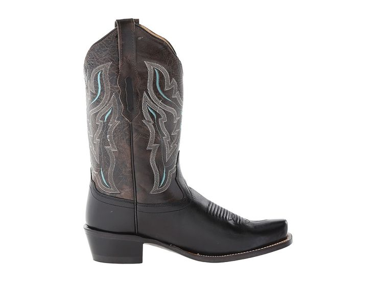 Old West Boots 18008 Cowboy Boots Black/Charcoal Grey