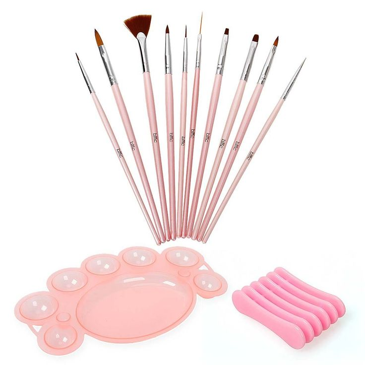 BMC 12 pc Nail Art Beauty Design Polish Brush Dotting Tool Palette Color Mixing Dish Holder Manicure Set *** Click on the image for additional details.