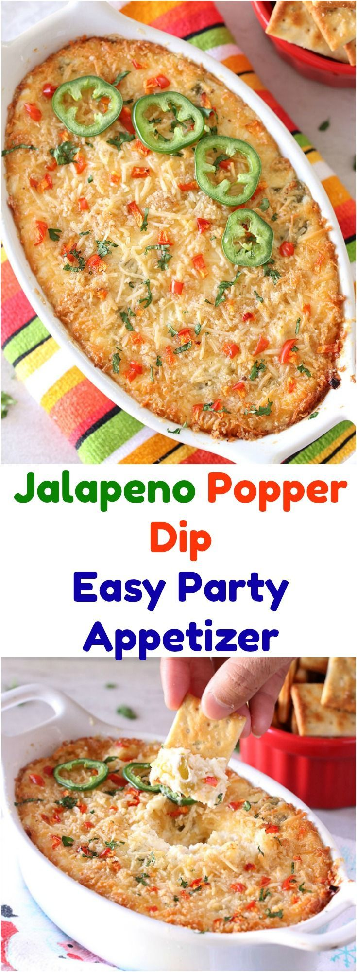 I love Jalapeno Poppers. Unfortunately, they are a big hassle to make. You have to hollow out the peppers one by one, stuff them with cheese stuffing, then bread them and deep fry them. And during this busy time of the year, I couldn't find time to make this from scratch. So I did what I do most of the time with a recipe where too much work - Just turn it into a dip.. #ad #GrabSomeCheer #collectivebiasin #appetizers #snacks #holidayrecipe #vegetarian #PartyAppetizer #cheesyrecipe #easyrecipe