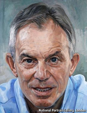 Intensity undimmed: Tony Blair by Alastair Adams, in the National Portrait Gallery