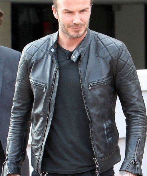Mens Leather Jacket Inspired By David Becham