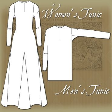 Early tunic / dress. Good for Viking, Anglo-Saxon & many more cultures. Great instructions, including what order to see the pieces in!