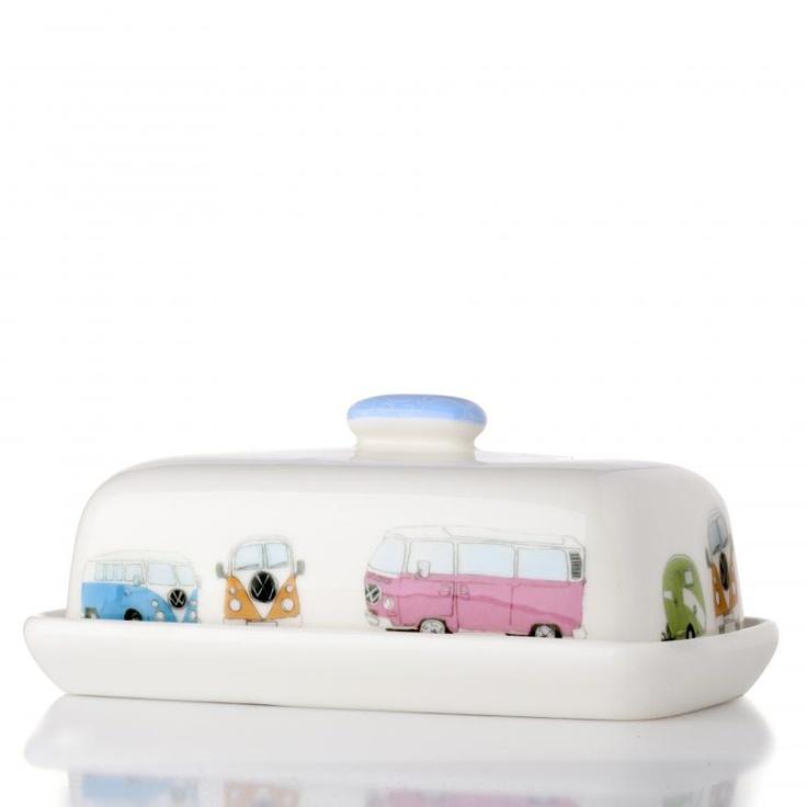 VW Caravans & Vans Butter Dish by Julia Davey