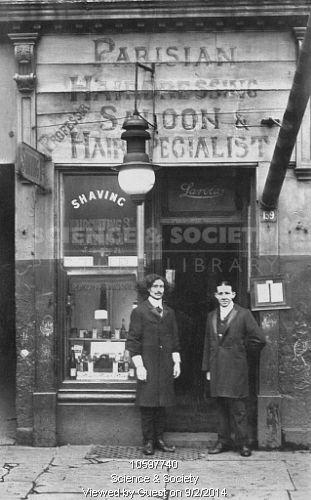 The Parisian Hairdressing Saloon in Soho, 1913