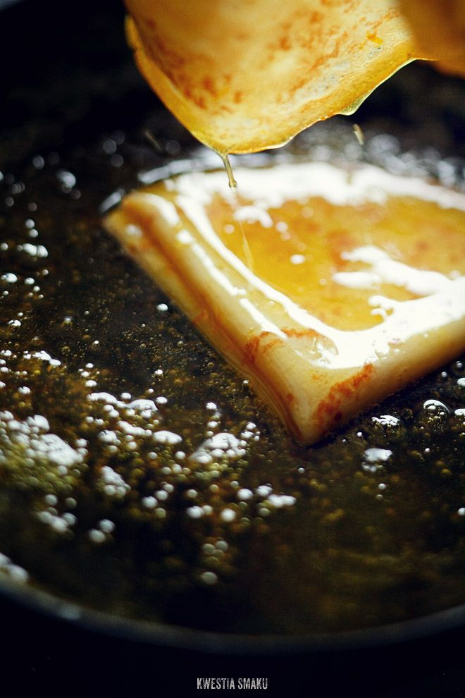 Crêpes Suzette - Recipe (you may need to use the translate option, the page is in Polish)