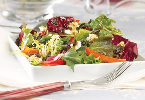 The creamy sweetness of the goat cheese in this salad is a nice ...