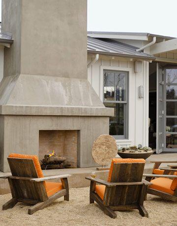 Relaxing Outdoor Fireplace