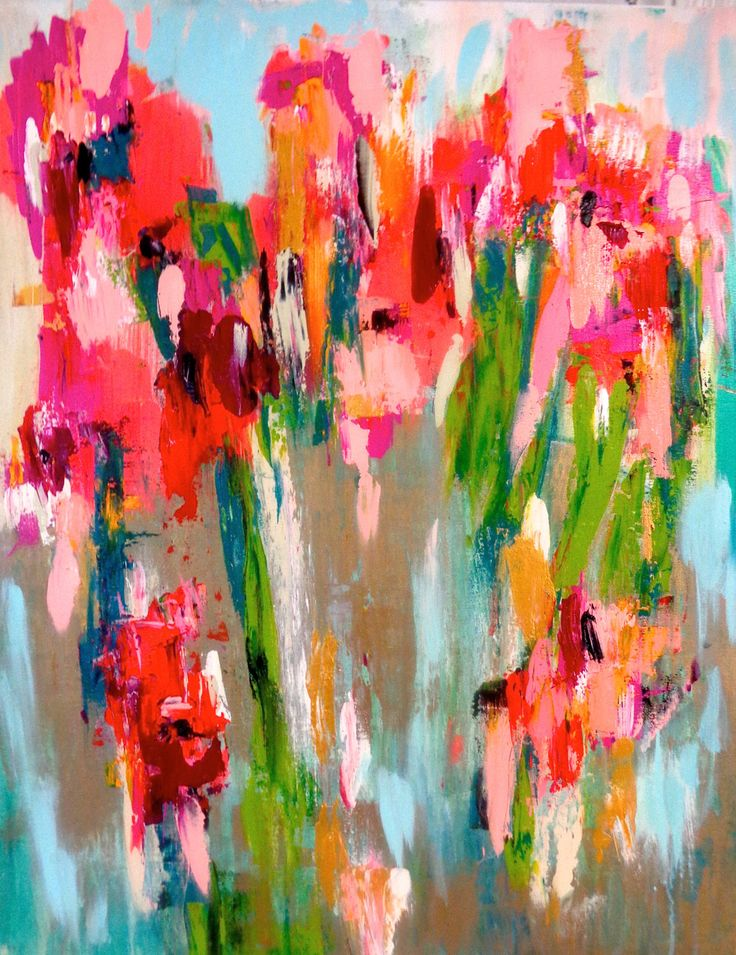 """Abstract Art Painting Original Susan Skelley 30 X 24 Large Chick Magenta Coral Emerald Green Turquoise Blue Textured Pink Gold """"CHICK FLICK"""" by susanskelleyart on Etsy https://www.etsy.com/listing/214135763/abstract-art-painting-original-susan"""
