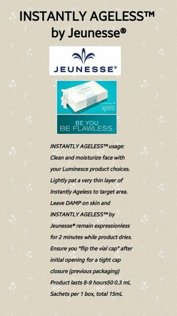 How to use instantly Ageless. http://amberageless.jeunesseglobal.com/products.aspx?p=INSTANTLY_AGELESS
