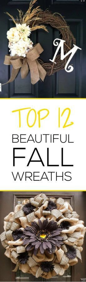 Fall is such a beautiful time, I love these great wreath ideas!  CLICK to read more articles on home decor for the fall!