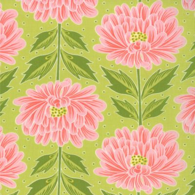 Chantilly - Wall Flowers in Dill (25070 25) // Moda Fabrics at Juberry