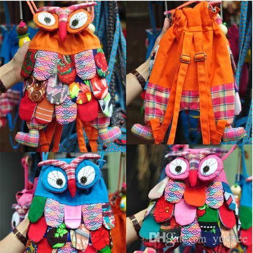 Girls Backpacks Nice For Kids Preschool Children Colorful Book Bag Schoolbag Owl Ethnic Backpack Rolling Backpacks From Yuobee, $7.33  Dhgate.Com
