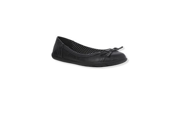 "Black Ballet Pumps. ""Black pumps are a style classic and this ballet inspired pair is a timeless example."""