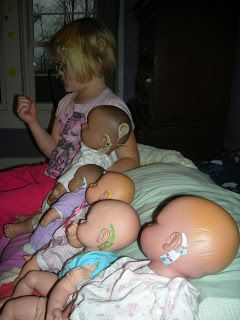 Cochlear Implant Girl makes cochlear implants for all her dolls too