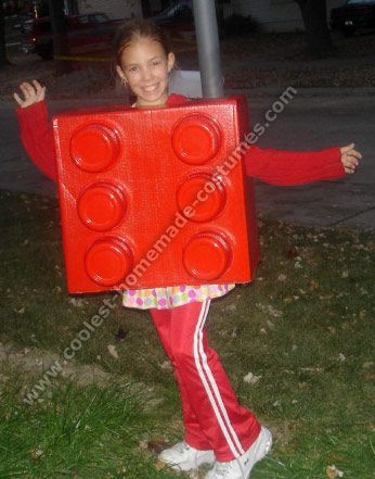 Like the instructions for this one.  Lego halloween costume