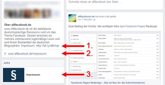 Neues Pages Design – Aktuelle Anleitung für die Impressumspflicht auf Facebook