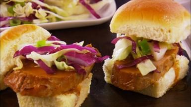 Sweet and Sour Pork Tenderloin Sliders