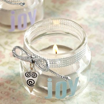 Wedding favours: Candleholders