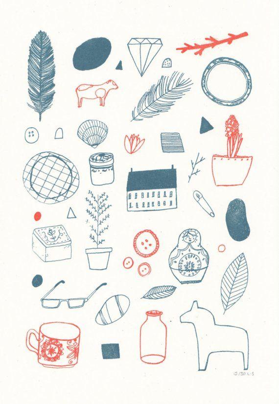 'In My Room' Lizzy Stewart Gocco Print.