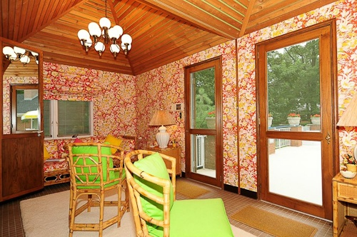 William Pahlmann original interiors in a time capsule 1962 house for sale in Montclair, New Jersey
